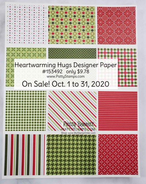 153492 Heartwarming Hugs Designer Paper sale Oct 2020 from Stampin' UP! shop with Patty Bennett www.MyStampOrder.com