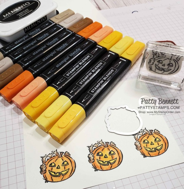 Halloween crafting fun with Stampin' UP! Have a Hoot bundle owls colored with Stampin' Blends. www.PattyStamps.com