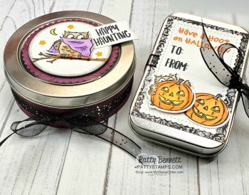 Halloween Treat ideas with Tins