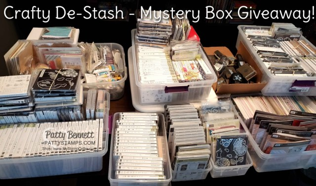 Crafty De-Stash retired Stampin' Up! product giveaway with $100 Stampin' UP! order www.PattyStamps.com