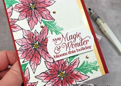 Poinsettia Petals card with Wink of Stella