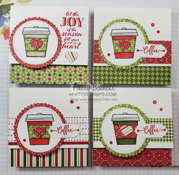 Heartwarming Hugs Coffee Cup Cards – Mystery Stamping