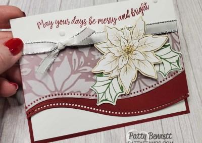 Plush Vellum Poinsettia Curvy Celebrations Christmas Cards