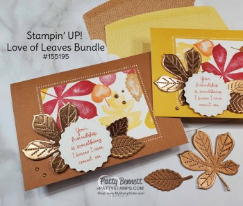 Tasteful Textile Embossing Folder Fall Cards