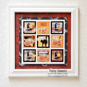 12×12 Halloween Collage with Paper Pumpkin