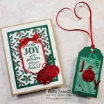 Cherish the Season bundle foil bells Christmas card and tag ideas featuring