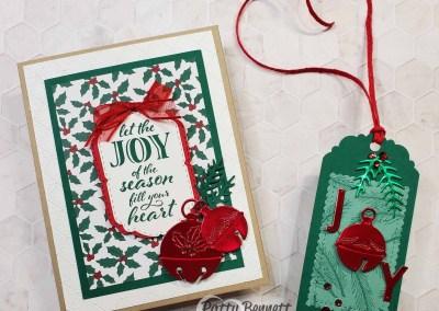 Cherish the Season Foil Bells Christmas Cards