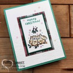 Stampin Up! Have a Hoot Merry Christmas card featuring Evergreen Forest embossing Folder. www.PattyStamps.com