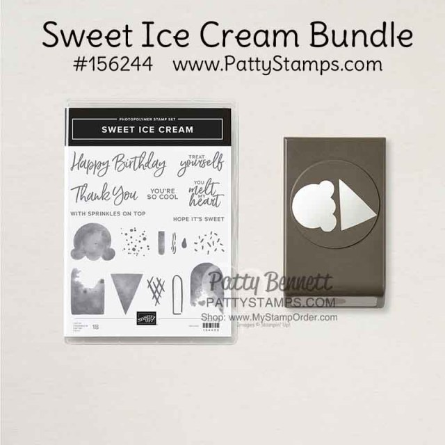 Sweet Ice Cream bundle #156244 www.PattyStamps.com