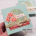 Square Thank You card idea featuring Stampin