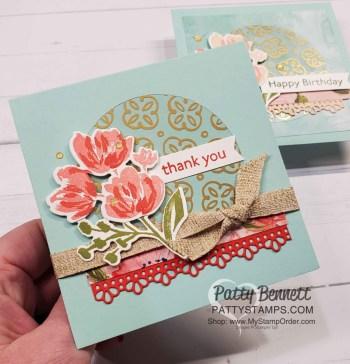 More Golden Garden Acetate Card Ideas