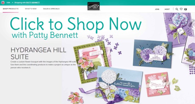Shop online Stampin Up Hydrangea Hill Suite www.PattyStamps.com