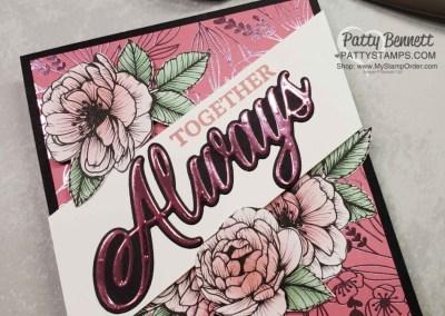 Together Always Specialty Foil Floral Card