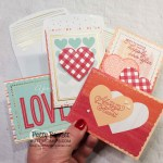 Sweet Little Valentines cards and more kit - 4 quick and easy Valentine Card ideas by Patty Bennett. kit #154287 www.PattyStamps.com