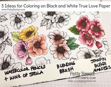 3 Ways to Color on True Love Designer Paper