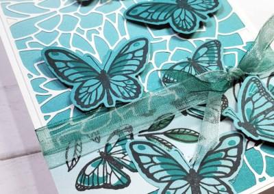 Ombre Floating & Fluttering Butterflies Card
