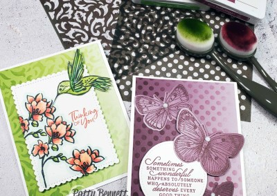 Oh So Ombre Card Background Video Tutorial