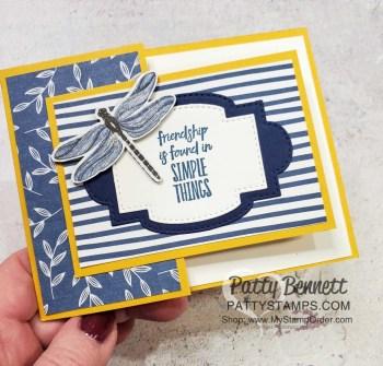 Dandy Garden Fun Fold Card Dimensions