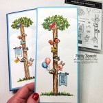 Slimline cards with Woodland Wonder stamp set from Stampin