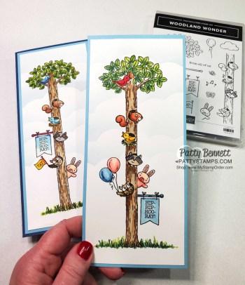 So Cute! Woodland Wonder Slimline Cards!