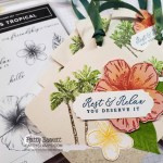 Bag Tags for Luv 2 Stamp Group Maui Trip achievers featuring Stampin