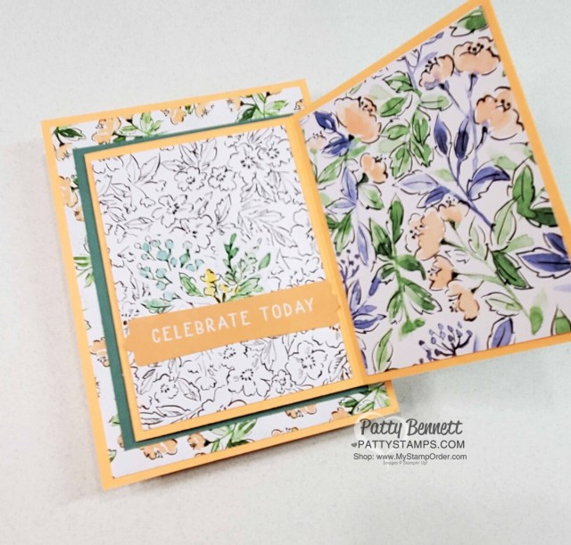 Hand-Penned Memories & More cards fold out gift card holder by Patty Bennett