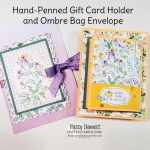 """Fold out gift card holder and beautiful Ombre Bag """"envelope"""" featuring Stampin"""