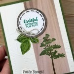 Woodland Embossing folder background with Rooted in Nature stamp set from Stampin
