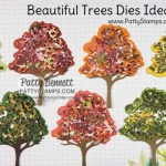 Ideas for Beautiful Trees Dies featuring Stampin