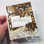 Simply Elegant designer paper, Gold Gilded Leafing and the Elegantly Said stamp set combine to create a beautiful card perfect for a wedding! www.PattyStamps.com