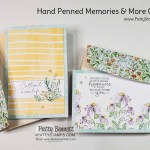Super Simple cards with Memories & More cards and envelopes pack / Hand-Penned. Stampin UP card ideas by Patty Bennett