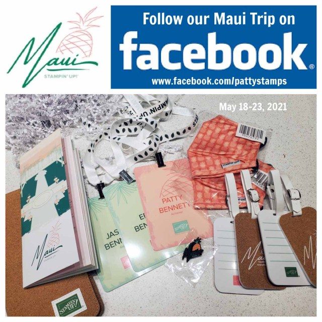 Follow our Maui Incentive Trip with Stampin' UP! to the Grand Wailea on facebook. www.PattyStamps.com