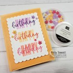 Birthday card idea featuring Stampin