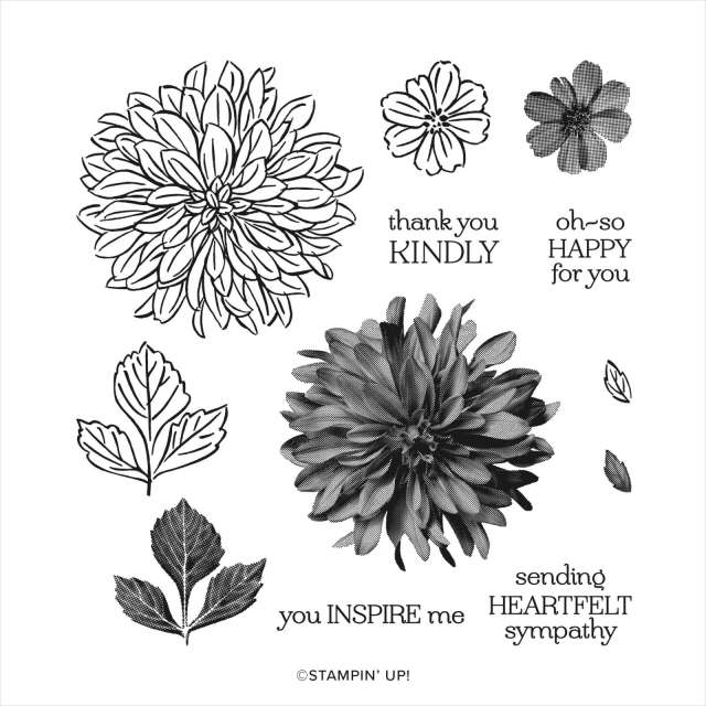 Stampin' UP! Sale-a-Bration Delicate Dahlia stamp set - free gift choice with $50 order through 9-30-21