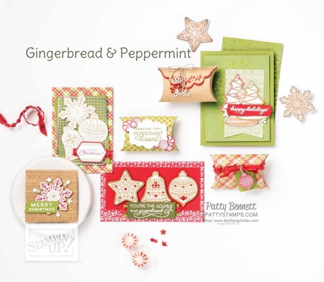 Stampin' Up! Gingerbread and Peppermint suite of Christmas crafting supplies!