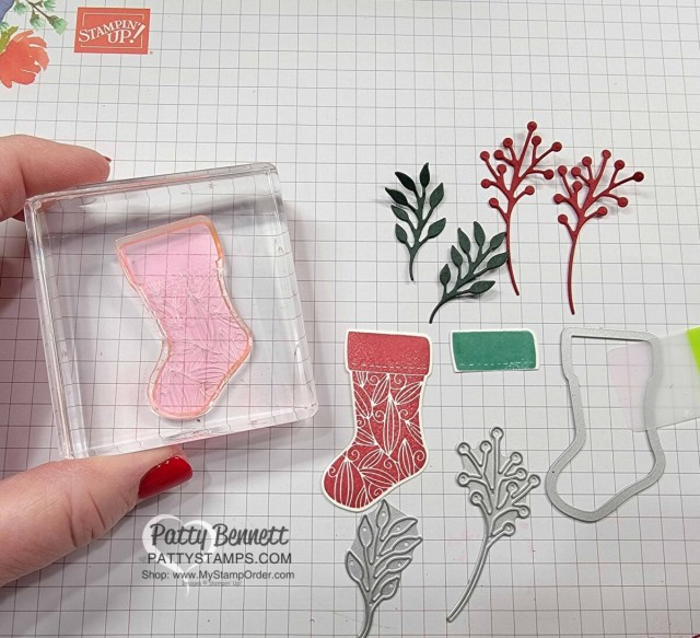 DIY Cute Christmas Wreath Ornament with the Stampin' Up! Tidings and Trimmings bundle.