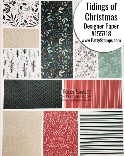 155718 Tidings of Christmas designer paper Stampin' Up! papercrafting supplies www.PattyStamps.com