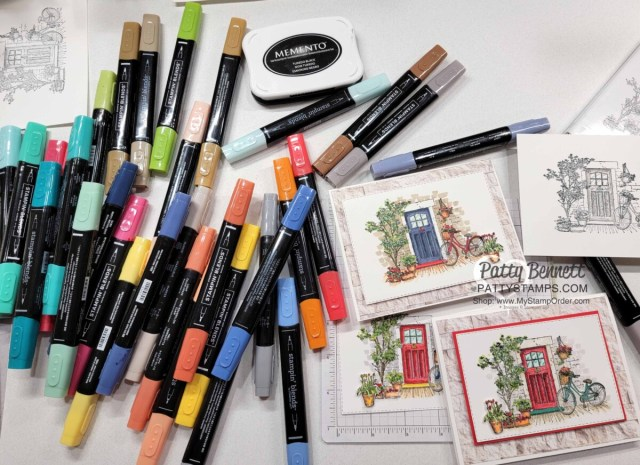 Craftermath Facebook Live Stampin' Blends coloring video featuring Feels Like Home set with Patty Bennett