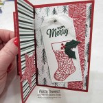 Christmas Pinwheel card idea featuring the Stampin