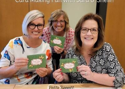 Fun Fold Christmas card with Sara & Shelli