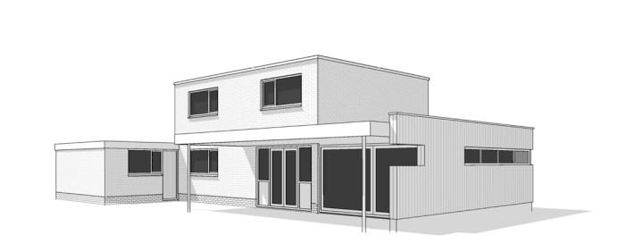 Jeroen Boschlaan definitief ontwerp uitbreidingen, uitbouw woning te Hengelo. Architect Enschede Markelo Hengelo Haaksbergen Almelo Oldenzaal Borne.