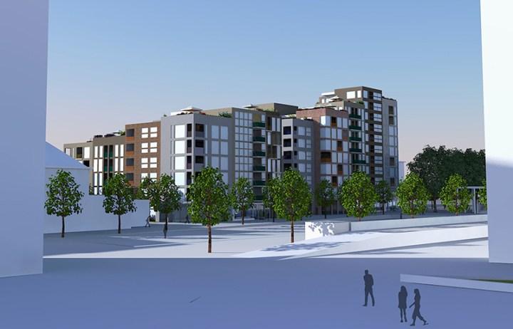 Enschede Paul Koster herontwikkeling hoogbouw appartementen centrumkwadraat architect enschede hengelo oldenzaal almelo haaksbergen