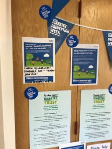 Type 2 diabetes prevention promotion in the Paula Carr Diabetes Centre