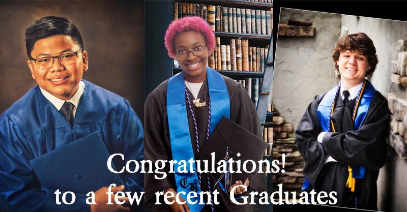 Congratulations to recent Graduates