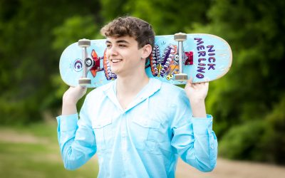 Skateboards, Ripsticks and Unicycles!  Perfect for a Senior Session…