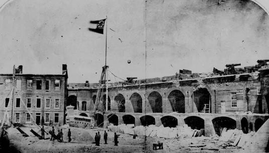 The Civil War began in the Charleston harbor when the Confederates bombarded Union soldiers at Fort Sumter, South Carolina on April 12, 1861.