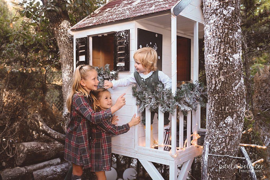 fotografia navidad niños casita arbol paula pellicer fotografia