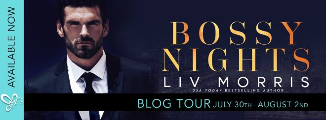 Blog Tour Banner for Bossy Nights