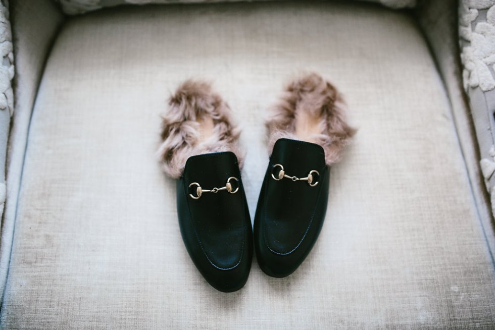 Gucci fur mules on PaulaRallis.com