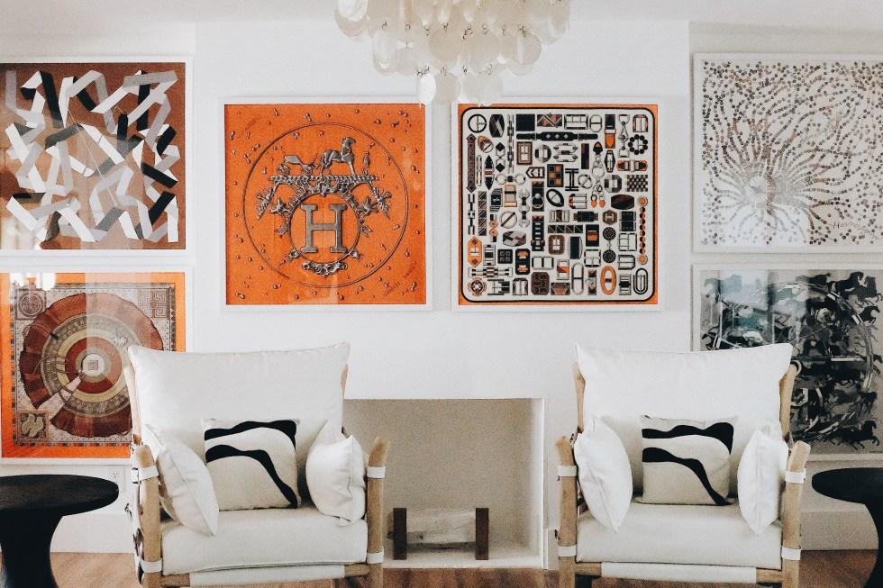 Framing Hermes Scarves on PaulaRallis.com